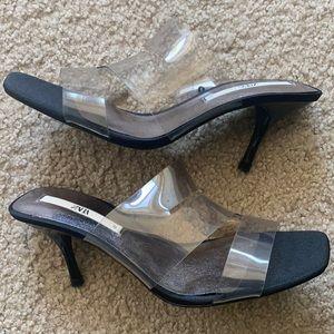 Zara Vinyl Mule Heels